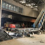 Removal of Chain Conveyor for re-positioning onsite